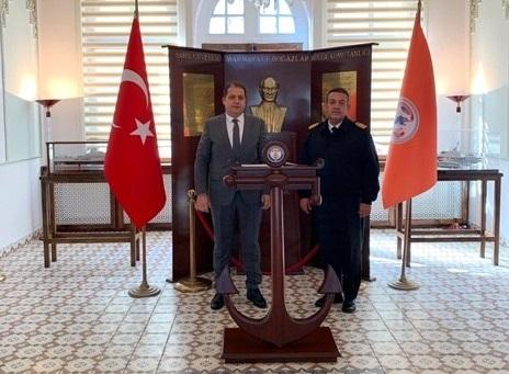 Sahil Güvenlik Marmara ve Boğazlar Bölge Komutanı Kıdemli Albay Tayfun PAŞAOĞLU Makamında Ziyaret Edildi